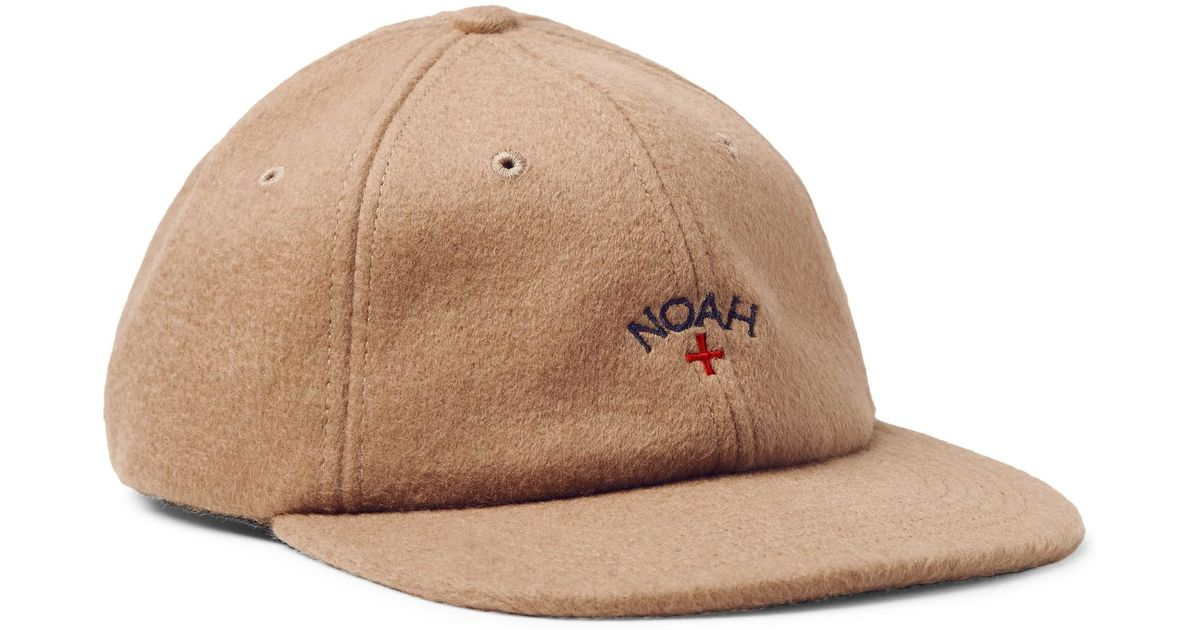 Lyst - Noah Embroidered Baby Camel Hair Baseball Cap in Natural for Men c1b9371a1a9