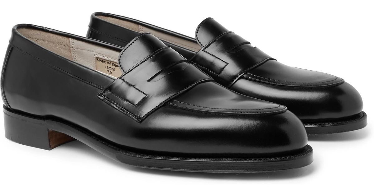 d13d3217521 Lyst - Grenson Bartlett Leather Penny Loafers in Black for Men