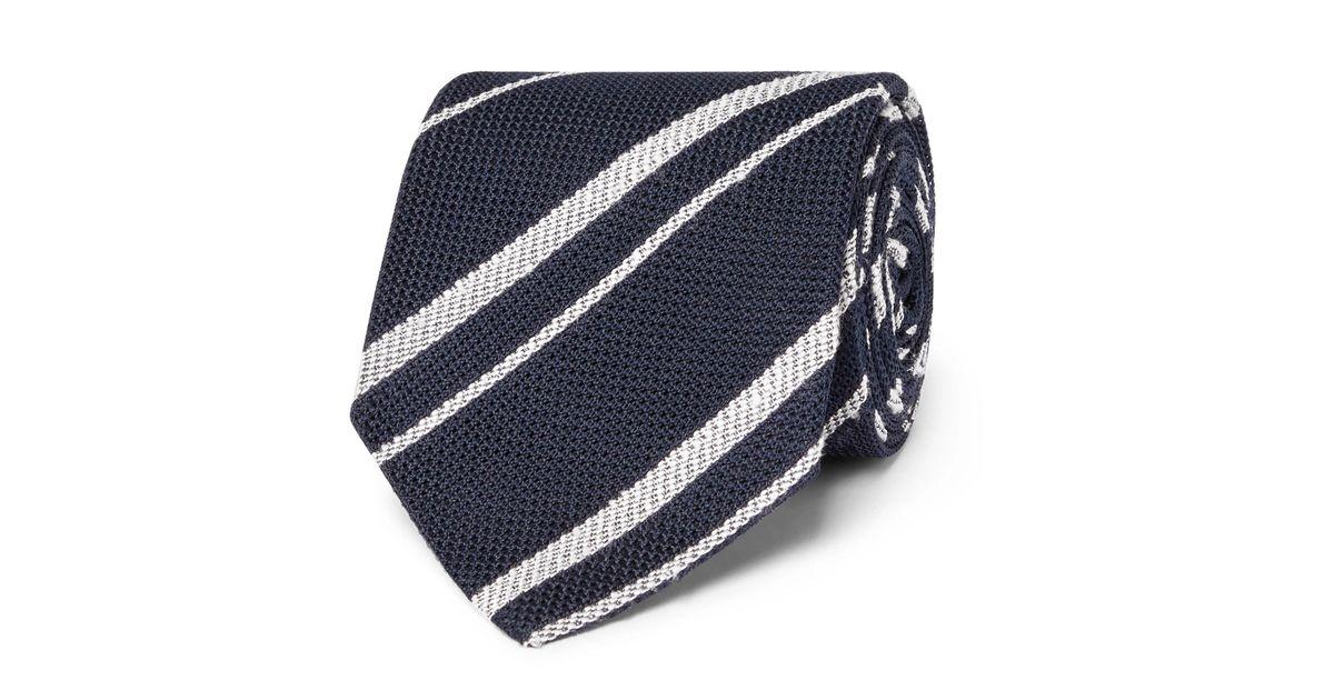 ac29c1f8ade0 Lyst - Drake's 8cm Striped Silk-grenadine Tie in Blue for Men