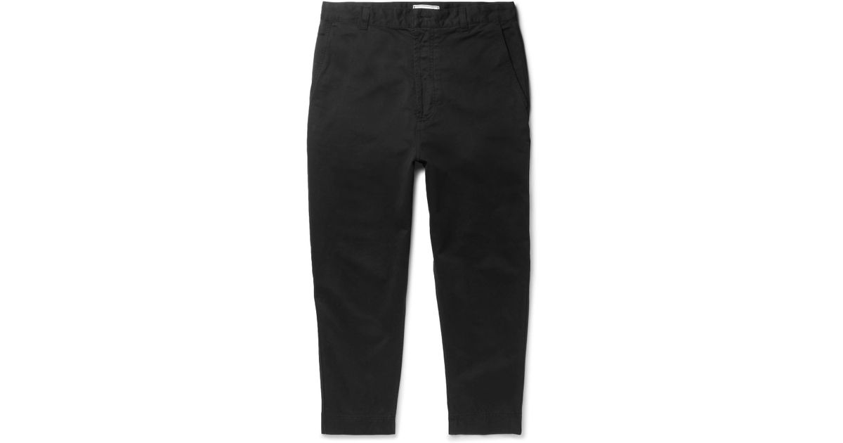 Tapered Stretch-cotton Twill Trousers Ami fImEJbXoEA