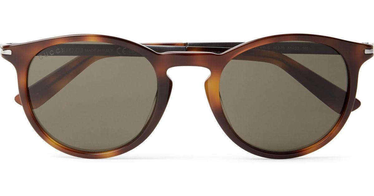756f20830f Lyst - Gucci D-frame Tortoiseshell Acetate Sunglasses in Brown for Men
