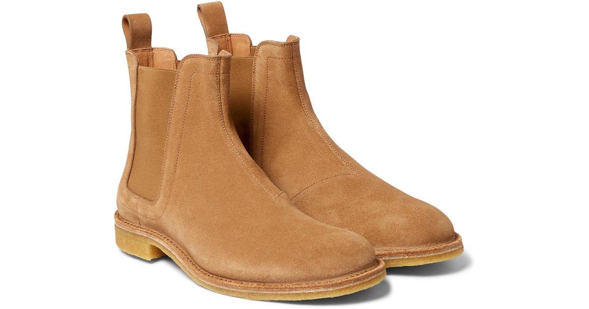 Bottega Veneta Tan Suede Chelsea Boots erHxxG