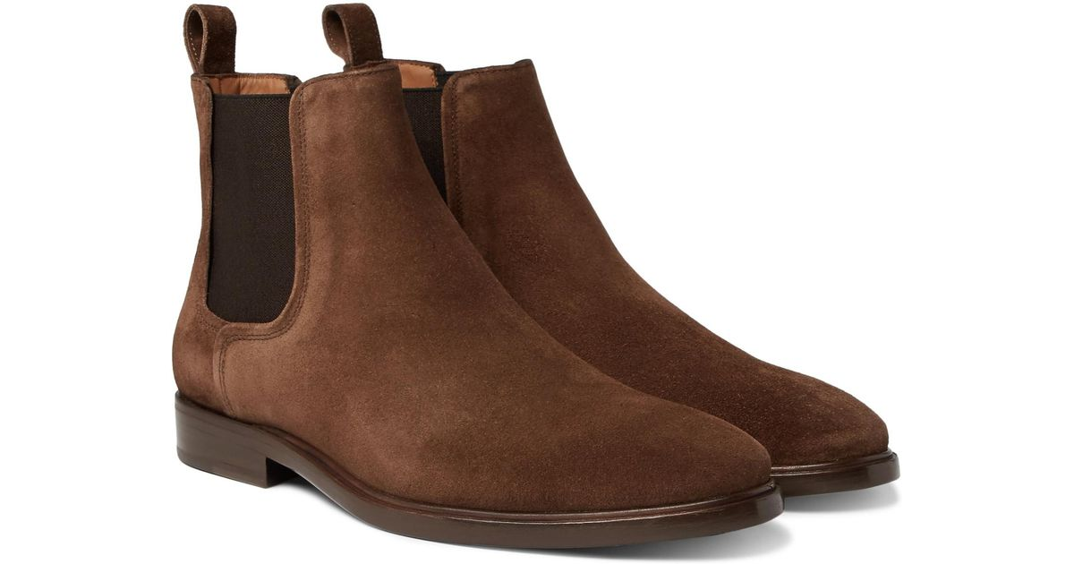 Lanvin Brown Suede Chelsea Boots HYXcE