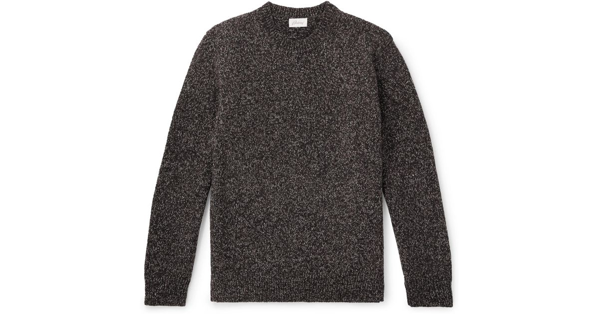 Men Sweater Brown Wool For Lyst Mélange Brioni In wOxYqCBwna
