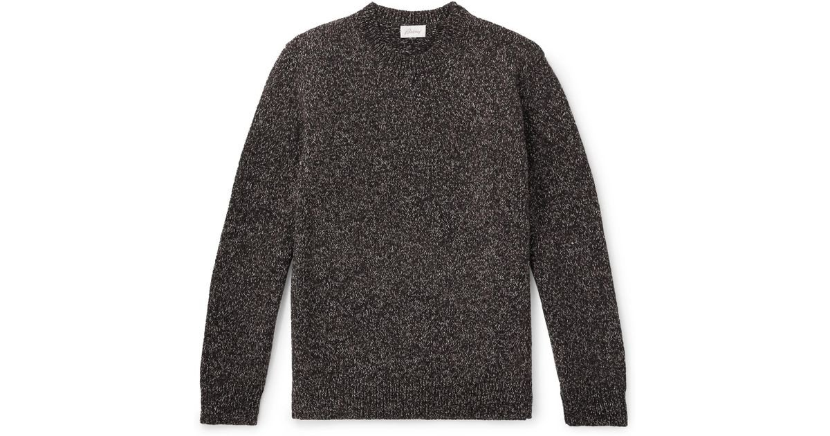 Brioni In For Men Lyst Brown Wool Mélange Sweater wwCUq681