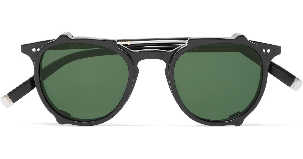 92eaace3422 Lyst - Moscot Jared Round-frame Acetate Optical Glasses With Clip-on Uv  Lenses in Black for Men