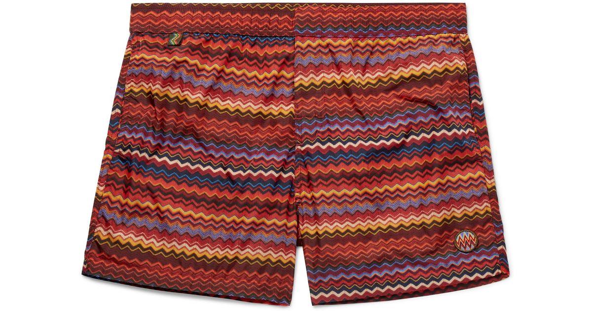 Missoni Mid-length Printed Swim Shorts - Red 2018 Pas Cher En Ligne dXUpCDyyQ