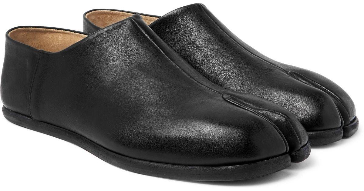 Tabi Collapsible-heel Split-toe Leather Loafers Maison Martin Margiela iC8mUzKErz