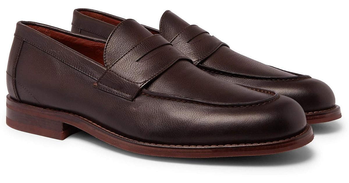 50cd4969fd4 Lyst - Loro Piana City Life Full-grain Leather Loafers in Brown for Men