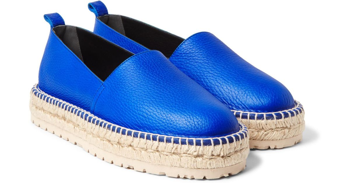 0c263dab764 Lyst - Balenciaga Textured-leather Espadrilles in Blue for Men