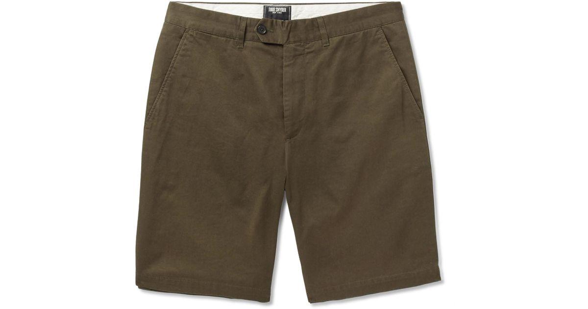 Hudson Cotton-twill Shorts Todd Snyder Sale vYthqS