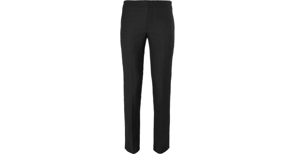Pantalon De Costume Noir Laine Slim Saint Laurent fnuF7Q