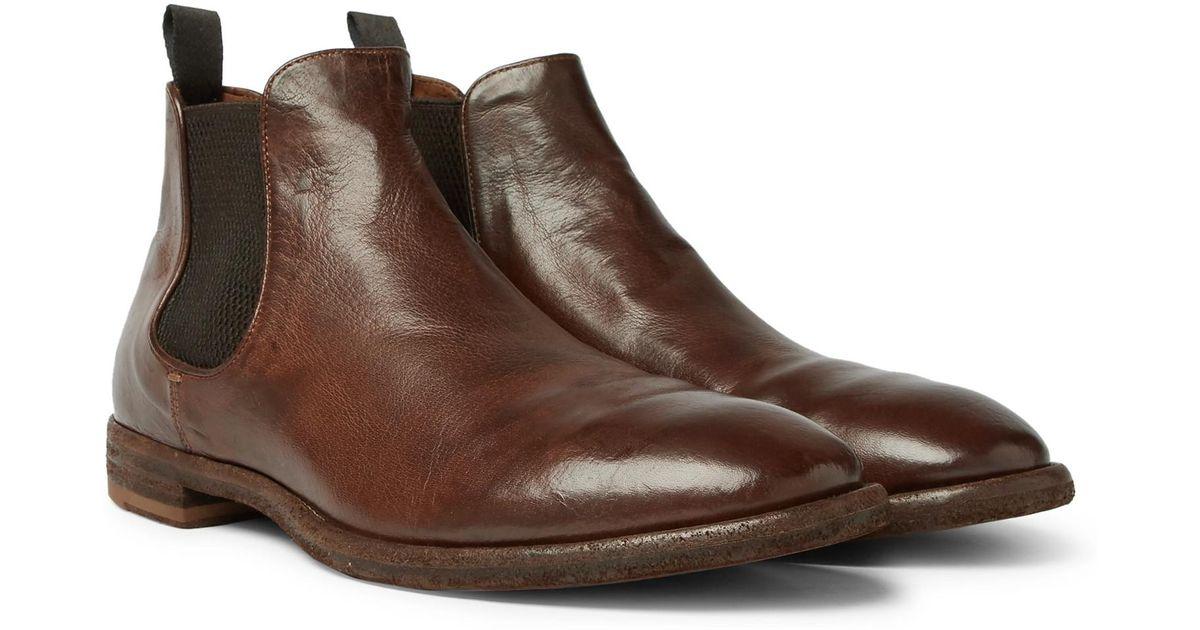 Officine creative Princeton Burnished-leather Chelsea Boots - Dark brown Style De Mode Rabais Expédition Bas Pas Cher En Ligne Prix Pas Cher En Ligne Sites En Ligne A0ZUmo