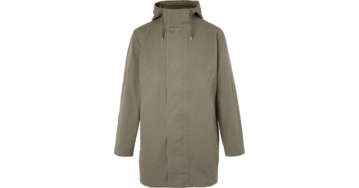 p In Hooded Canvas Men Lyst For A Green Parka Cotton c 5xw0qO46qX