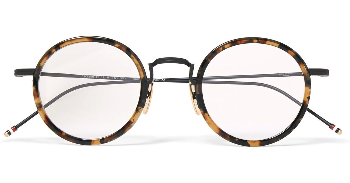 0e1816617d4 Lyst - Thom Browne Round-frame Tortoiseshell Acetate Optical Glasses in  Brown for Men