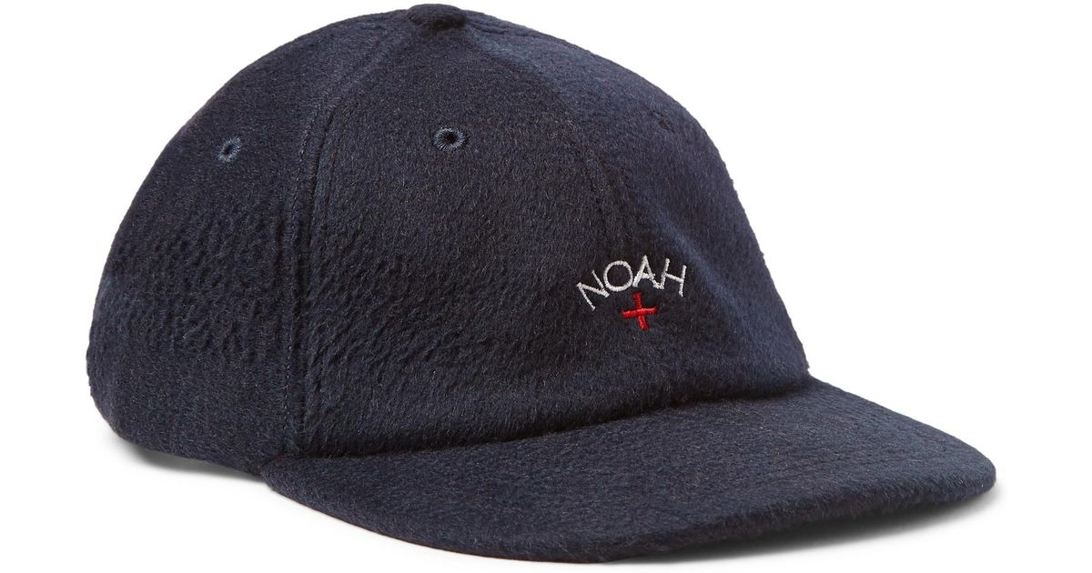 6fc21ace609 Lyst - Noah Embroidered Baby Camel Hair Baseball Cap in Blue for Men