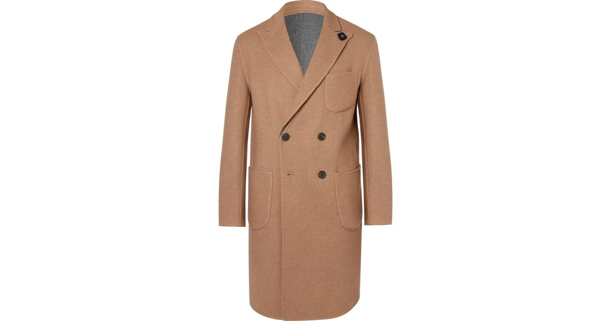 And Alpaca Reversible Overcoat Wool Breasted Double In Lardini Blend qwPBUvq