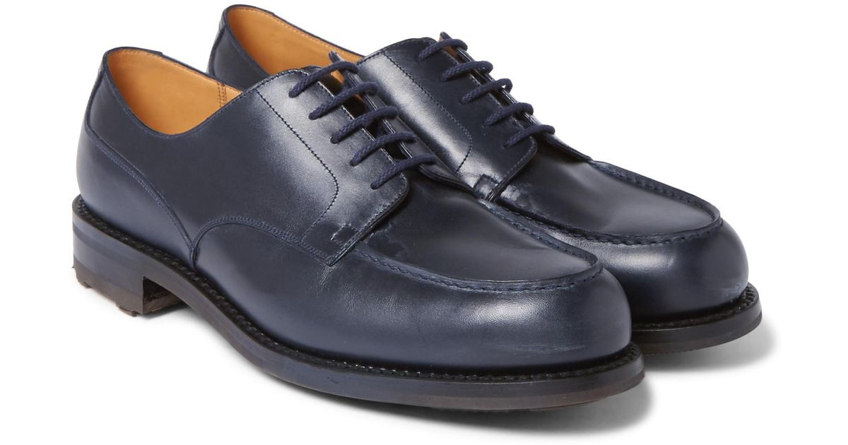 6cd688a7aa5ee7 Lyst - J.M. Weston Leather Derby Shoes in Blue for Men