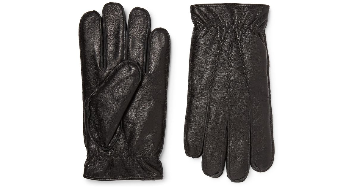 cf2ce7008 Lyst - Dents Faux Fur-lined Leather Gloves in Black for Men