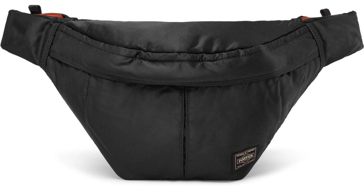 Lyst - Porter Tanker Shell Belt Bag in Black for Men baa99af6d84f7