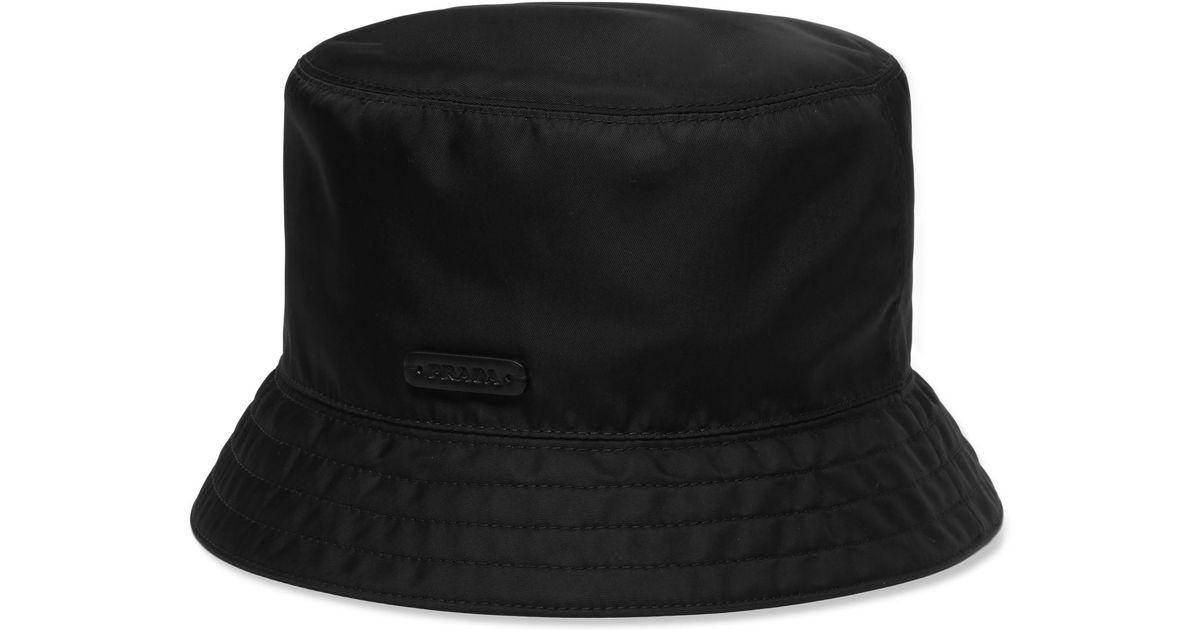 Lyst - Prada Twill Bucket Hat in Black for Men 1049edffca8