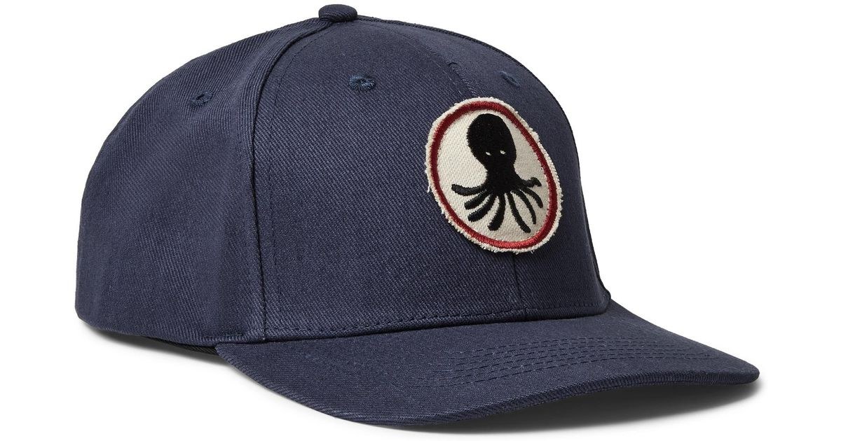4003cf717a4 Lyst - Mollusk Octopus Patch Hat in Blue for Men