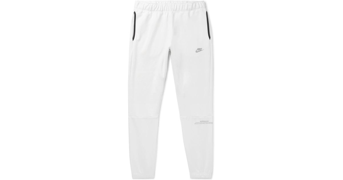 481c7b52ba1a Nike Air Max Tapered Loopback Cotton-blend Jersey Sweatpants in White for  Men - Lyst