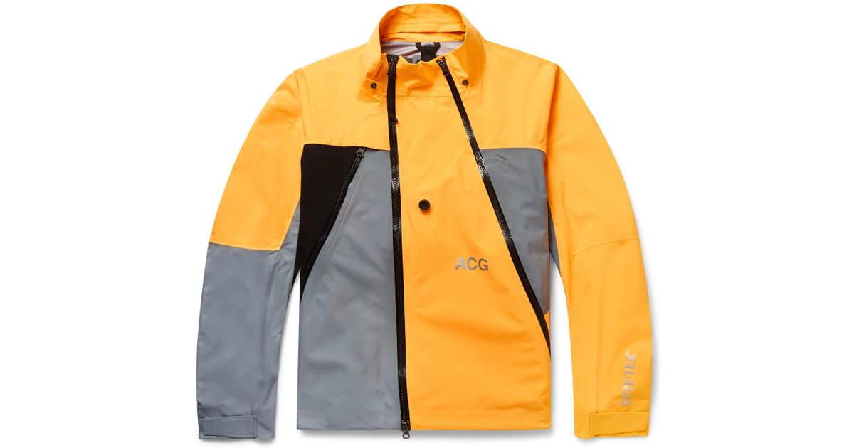 Lyst - Nike Lab Acg Deploy Panelled Gore-tex Jacket in Yellow for Men fda35c5ee