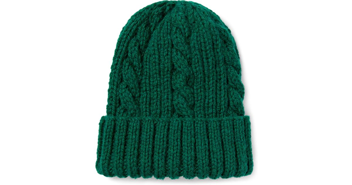 Cable-knit Wool Beanie CONNOLLY 4MbjtqoEo