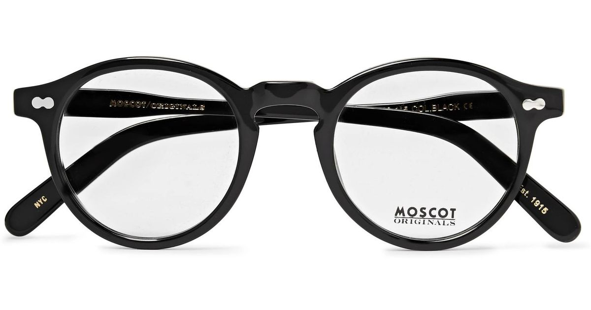 bccb19ccacd Lyst Moscot Miltzen Round Frame Acetate Optical Gles In Black