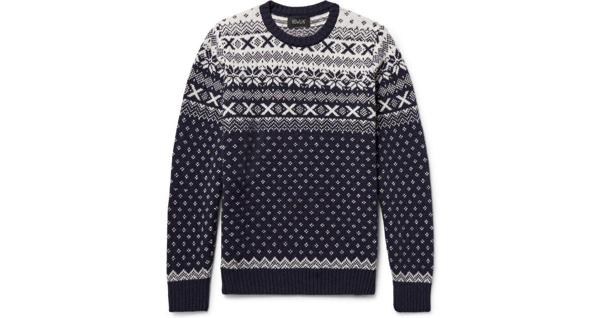 Lyst - Howlin' by morrison Mr Lawrence Fair Isle Wool Sweater in ...
