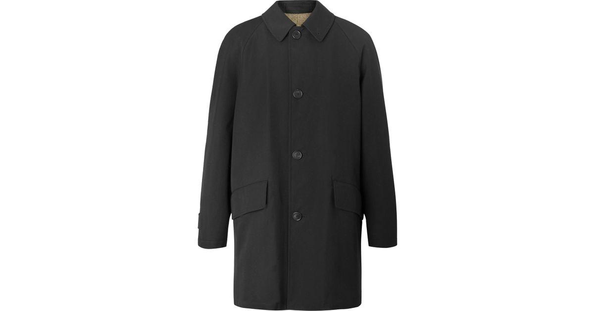 And Howell In For Wool Margaret Lyst Raincoat Gabardine Blend Cotton Men Black 0Epwx7qdw