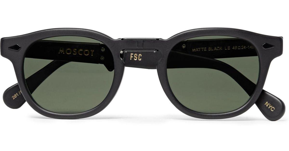 f7af875dd6 Folding Freemans de Lemtosh Sporting redonda gafas Moscot montura de acetato  hombres de Lyst Club para ...