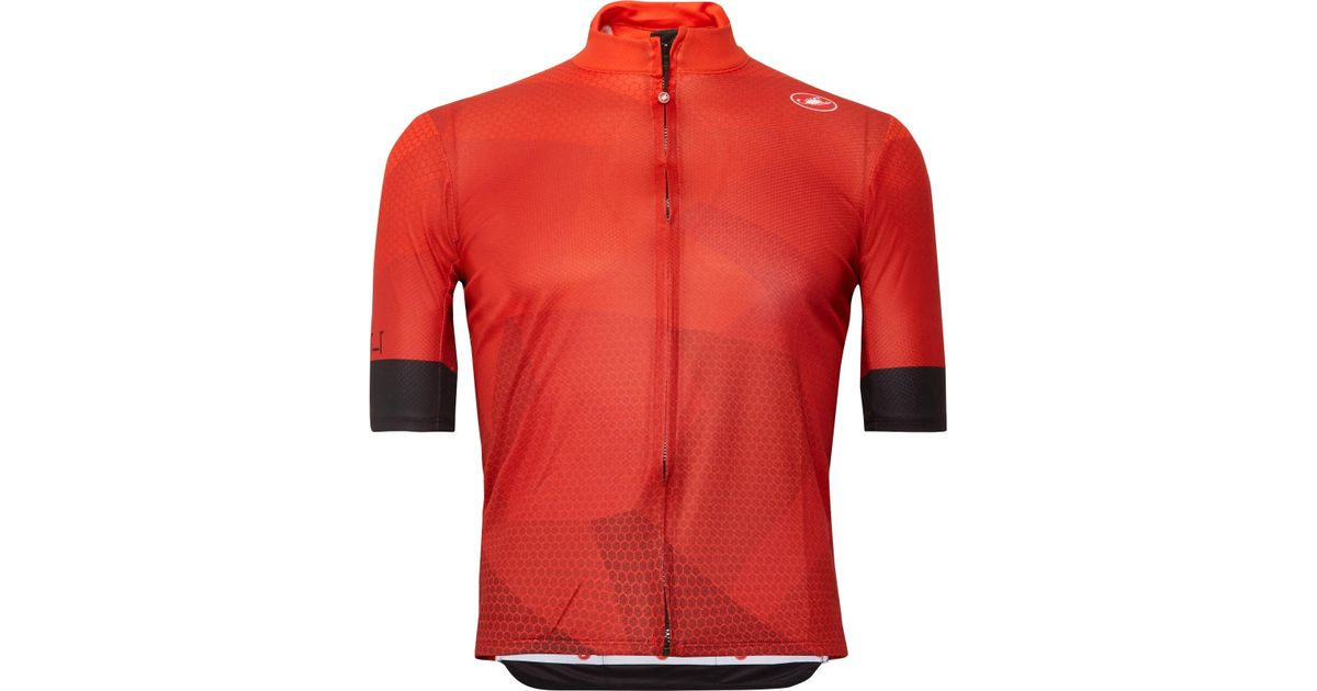 Lyst - Castelli Flusso Fz Prosecco Gt Cycling Jersey in Red for Men 9c11a8919