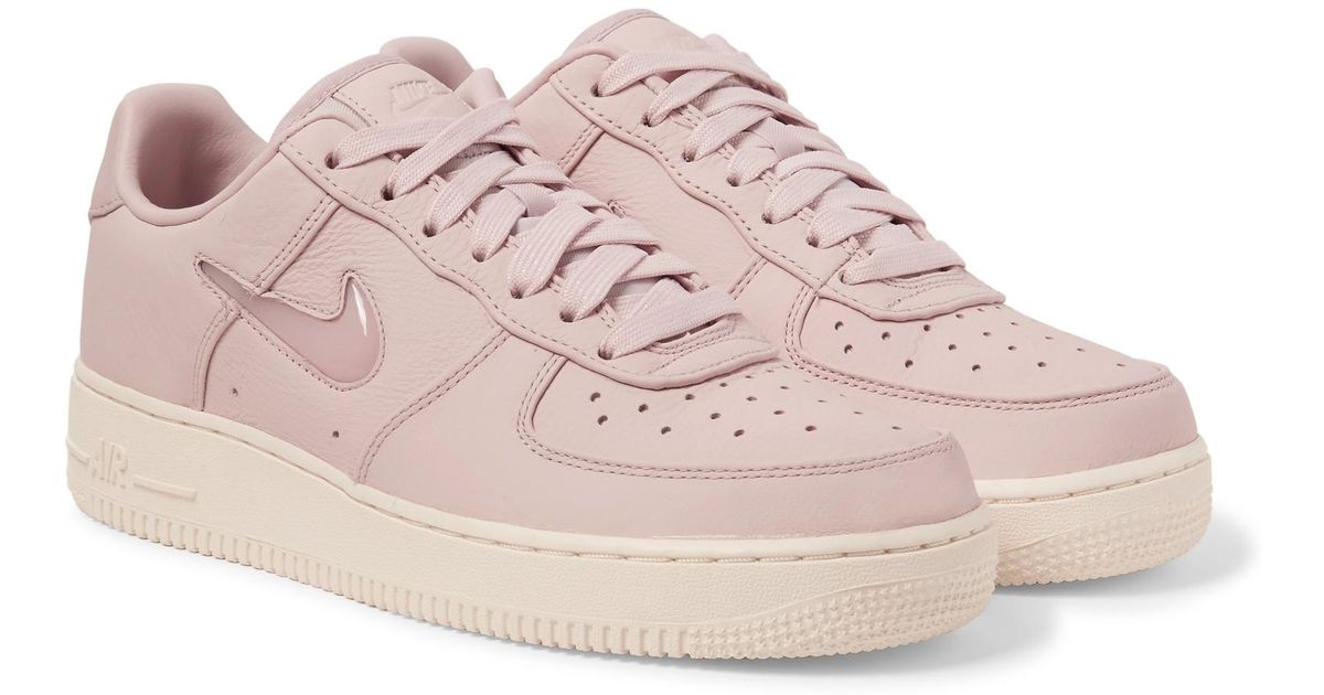 78b6995a1b Nike Lab Air Force 1 Jewel Swoosh Leather Sneakers in Pink for Men - Lyst