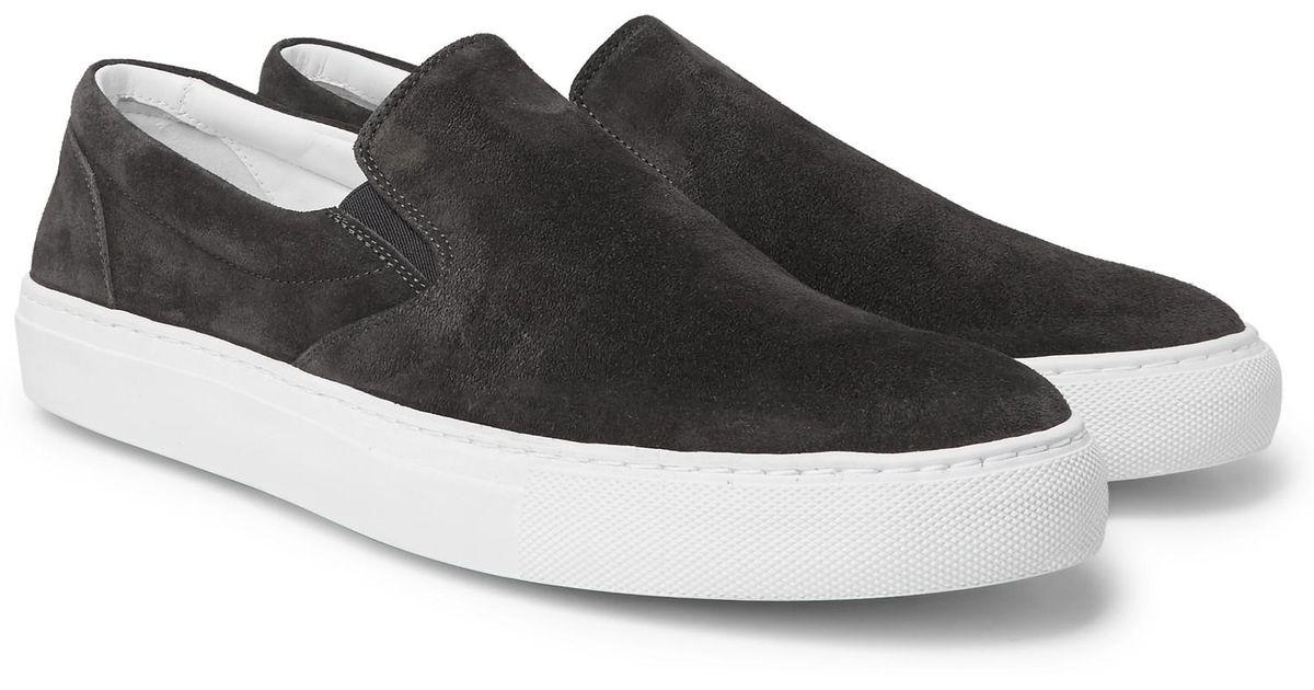 Stacey Suede Slip-on Sneakers - BlackOfficine Generale UFrnu