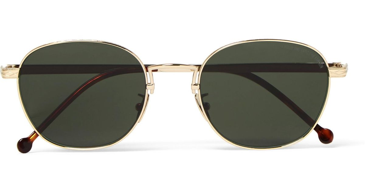 Tone In Gold Cutler Engraved Frame Round Metallic Gross Sunglasses amp; TOvggq76Y