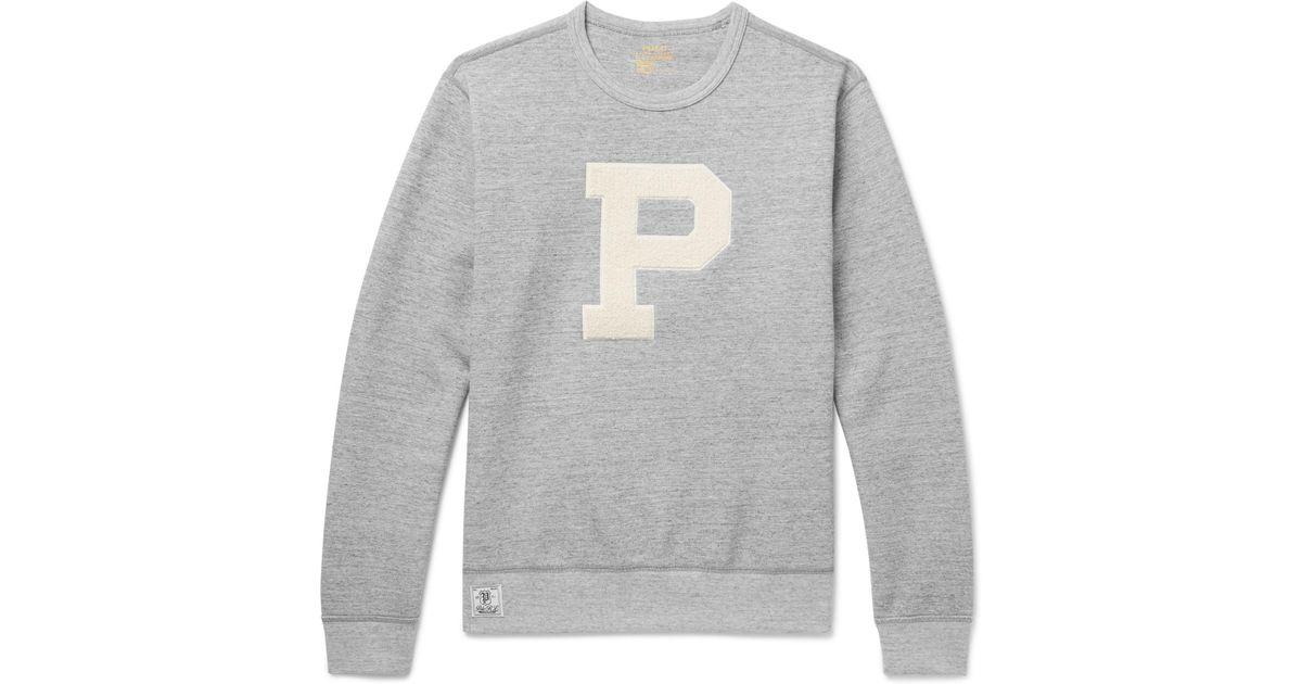 c3af72808050 polo-ralph-lauren-gray-Terry-appliqued-Melange-Jersey-Sweatshirt.jpeg