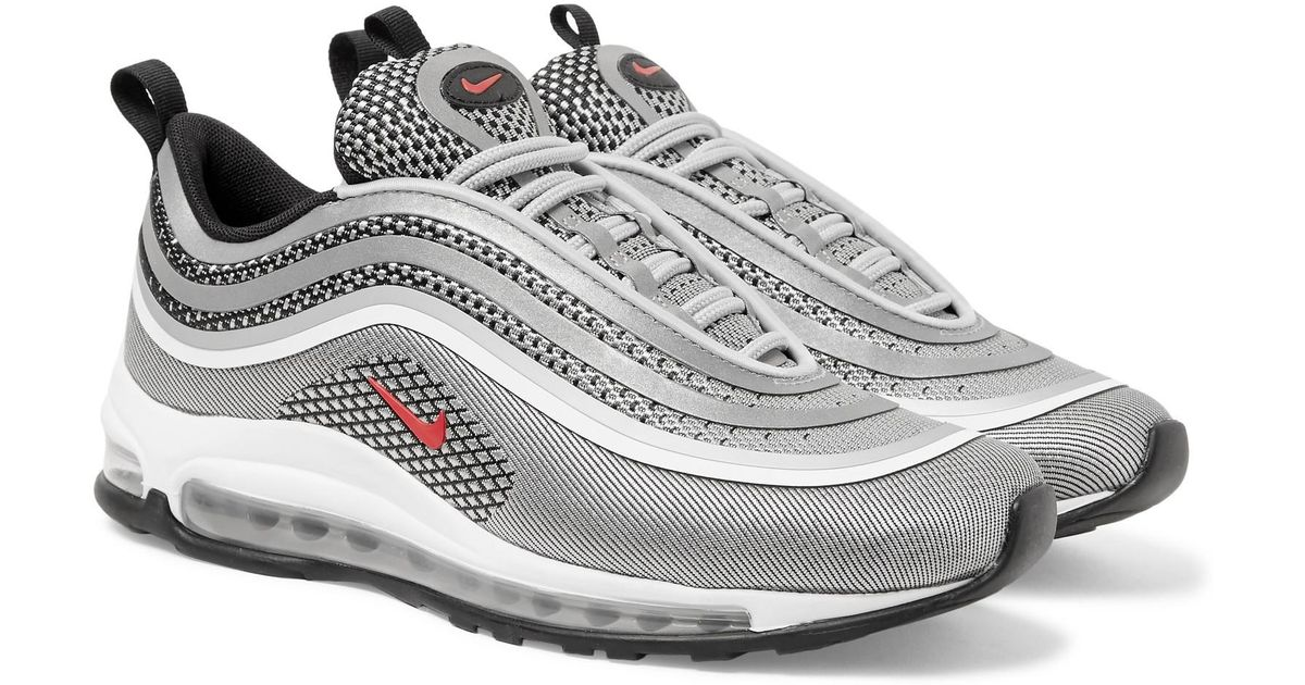 c8a012b6ace ... promo code for lyst nike air max 97 ultra rubber trimmed jacquard  sneakers in metallic for