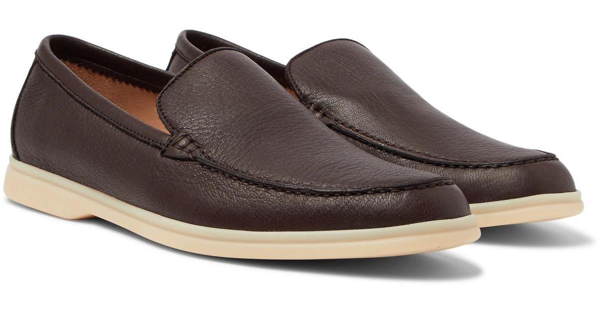 a111f3e58ef Lyst - Loro Piana Summer Walk Full-grain Leather Loafers in Brown for Men