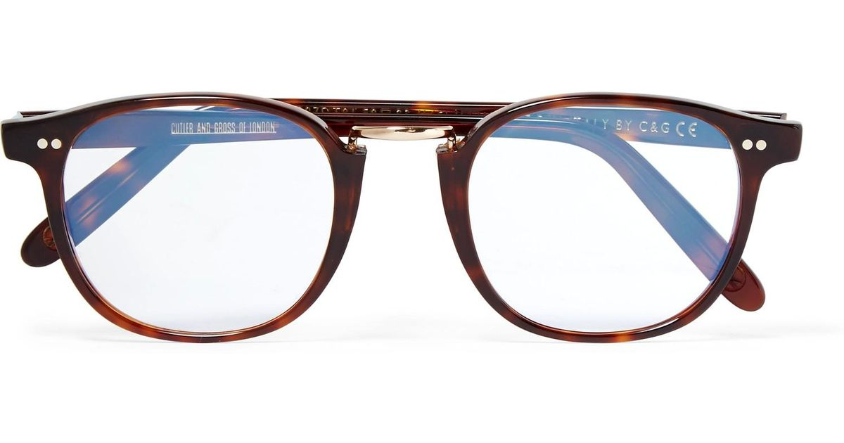e333b67f5b Lyst - Kingsman Cutler And Gross D-frame Tortoiseshell Acetate And Rose  Gold-tone Optical Glasses for Men