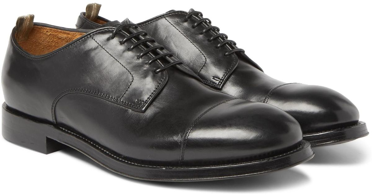 Williams Cap-toe Polished-leather Derby Shoes Officine Creative