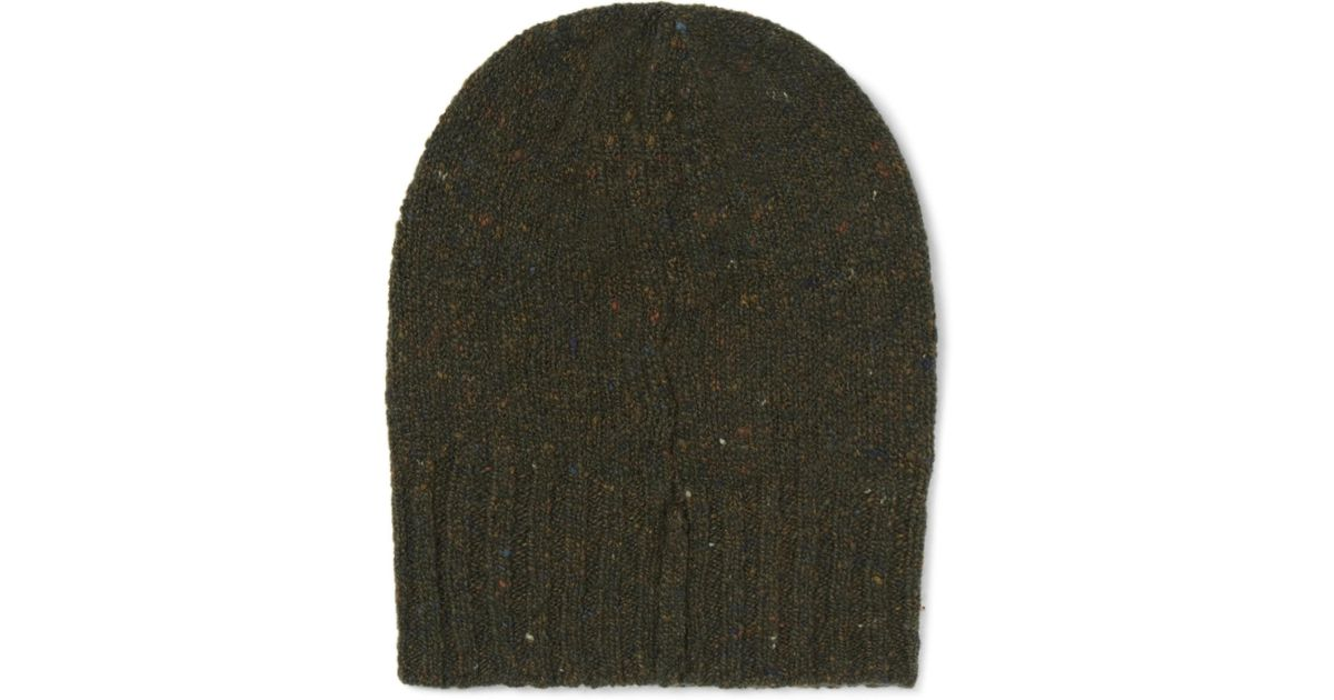Ribbed Donegal Mélange Wool And Cashmere-blend Beanie Anderson & Sheppard wqgmzTA