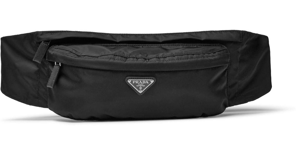 a276f3d15161b7 Prada Saffiano Leather-trimmed Nylon Belt Bag in Black for Men - Save 38% -  Lyst