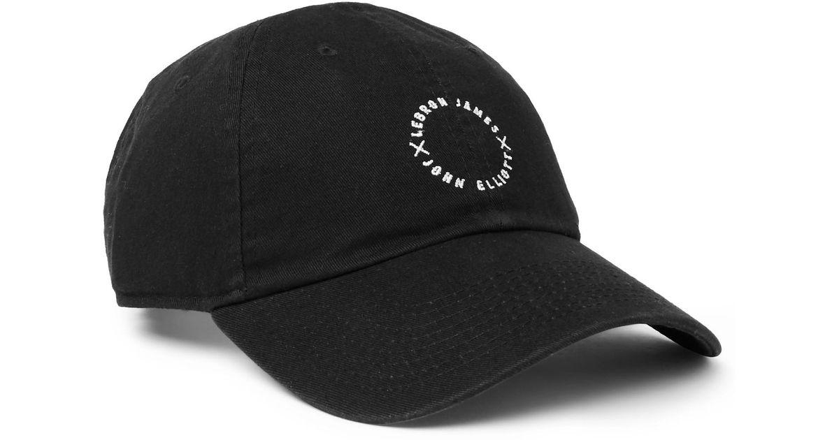 Lyst - Nike + Lebron James X John Elliott Embroidered Cotton-twill Baseball  Cap in Black for Men 9bf84be6400