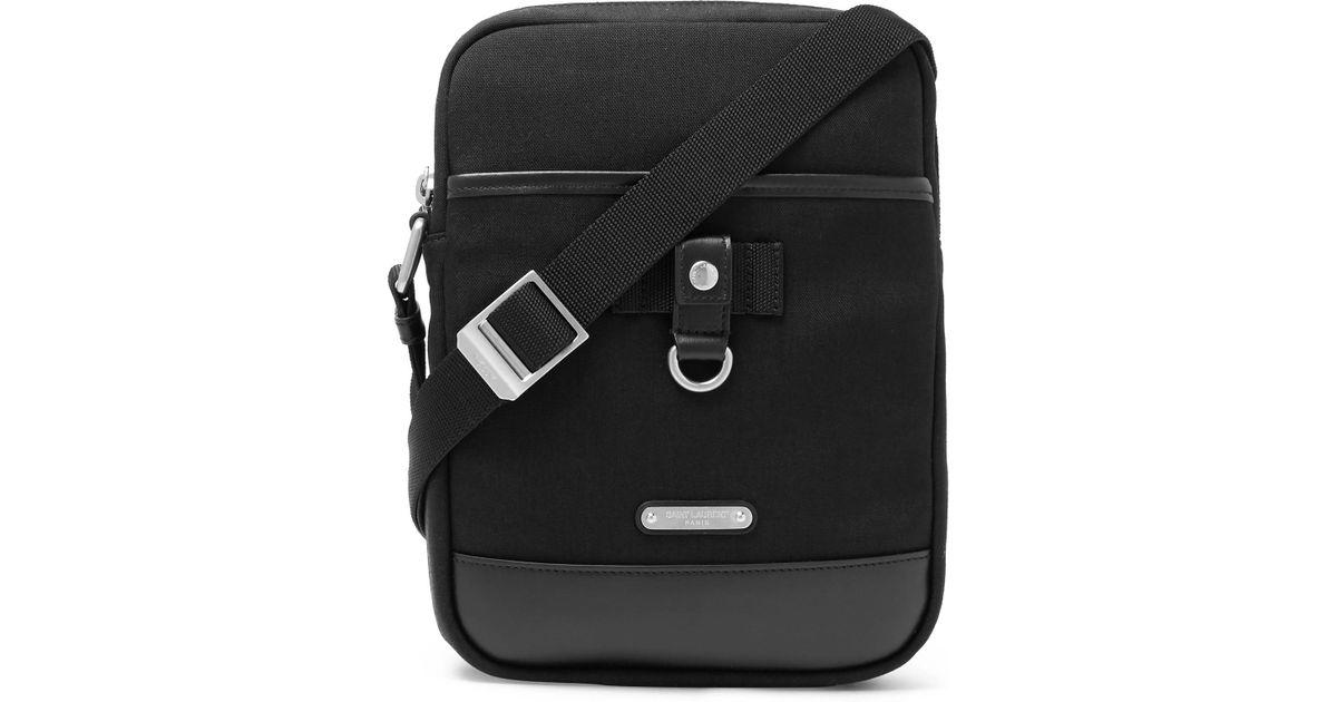 949d2c585294 Saint Laurent Rivington Canvas Cross Body Bag in Black for Men - Lyst