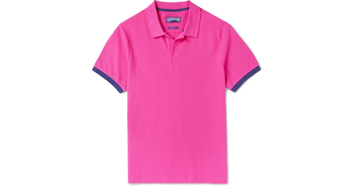 Achat 100% En Ligne D'origine Palatin Contrast-tipped Cotton-piqué Polo Shirt - PinkVilebrequin Sortie Très Pas Cher Vue Vente Pas Cher dCKNfwW