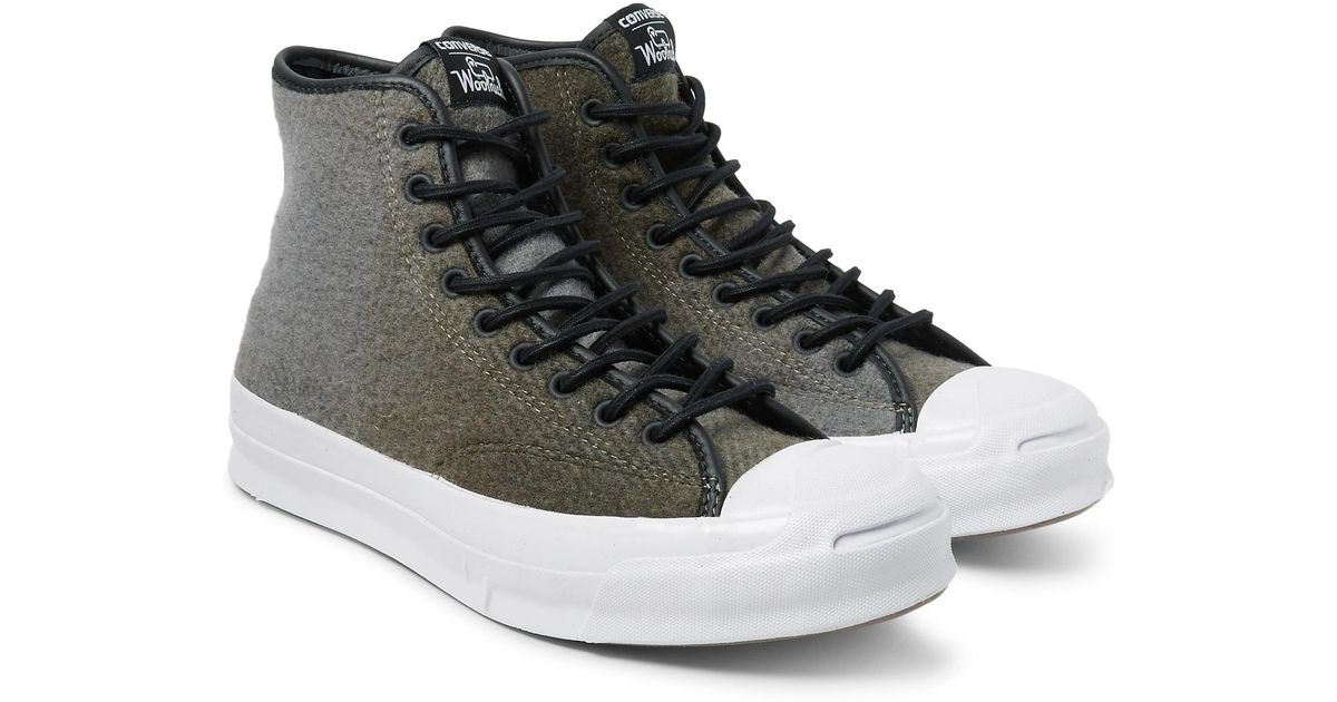 9c6ec925115abb Lyst - Converse + Woolrich Jack Purcell Signature Wool High-top Sneakers for  Men