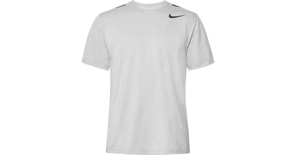 e61b46597ca Lyst - Nike Hypermax Mélange Dri-fit T-shirt in Gray for Men