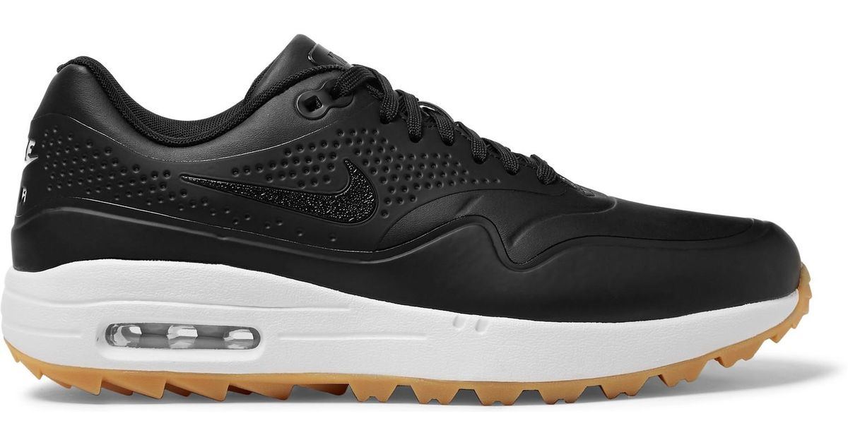 the best attitude 47ad0 13b4d Lyst - Nike Air Max 1g Faux Leather And Rubber Golf Shoes in Black for Men